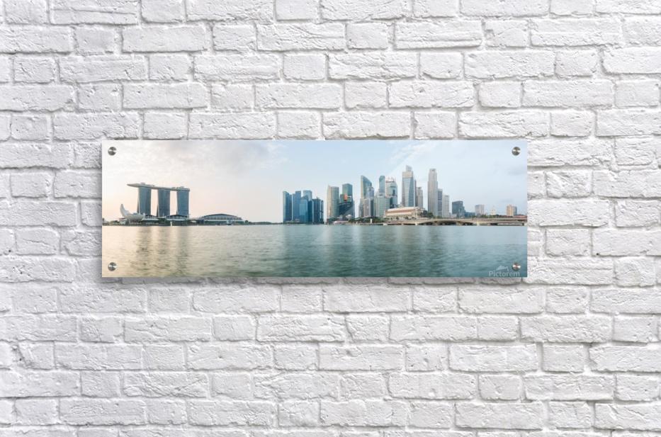 Panorama of Singapore skyline at sunrise  Acrylic Print