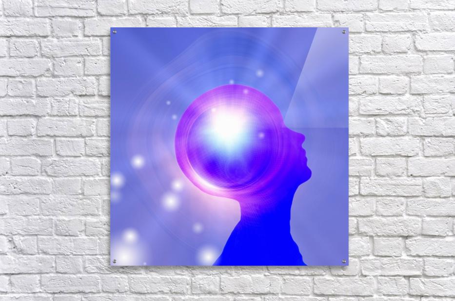 Human Head with Light  Acrylic Print