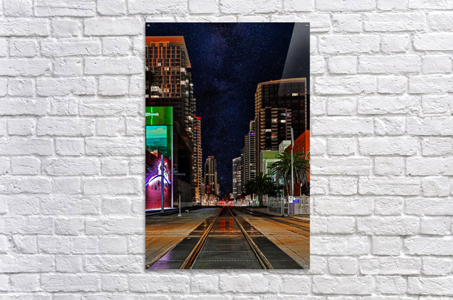 Midnight City Blues  Acrylic Print