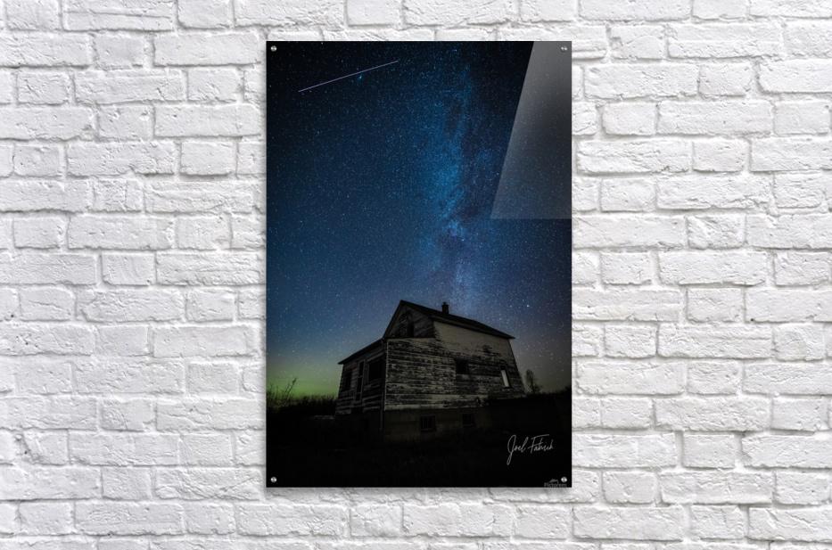 Abandoned House Milky Way   Hi Res   A3  Acrylic Print