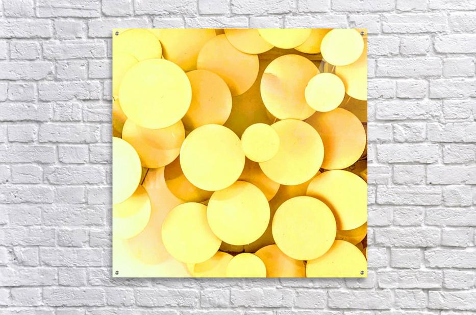 yellow circles  Acrylic Print