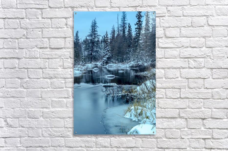 River and snow  Acrylic Print
