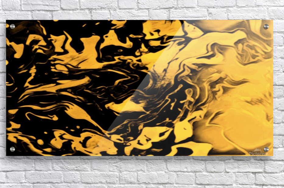 Richer fusion - gold and black gradient abstract wall art  Acrylic Print