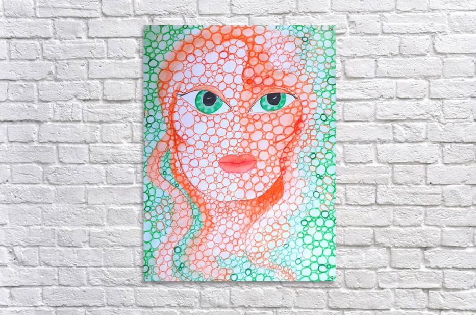 Girl and Circles  Acrylic Print