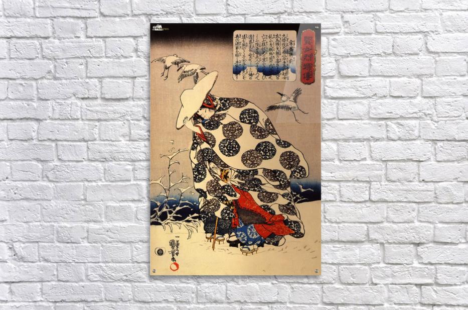 Tokiwa-Gozen with her three children in the snow  Acrylic Print