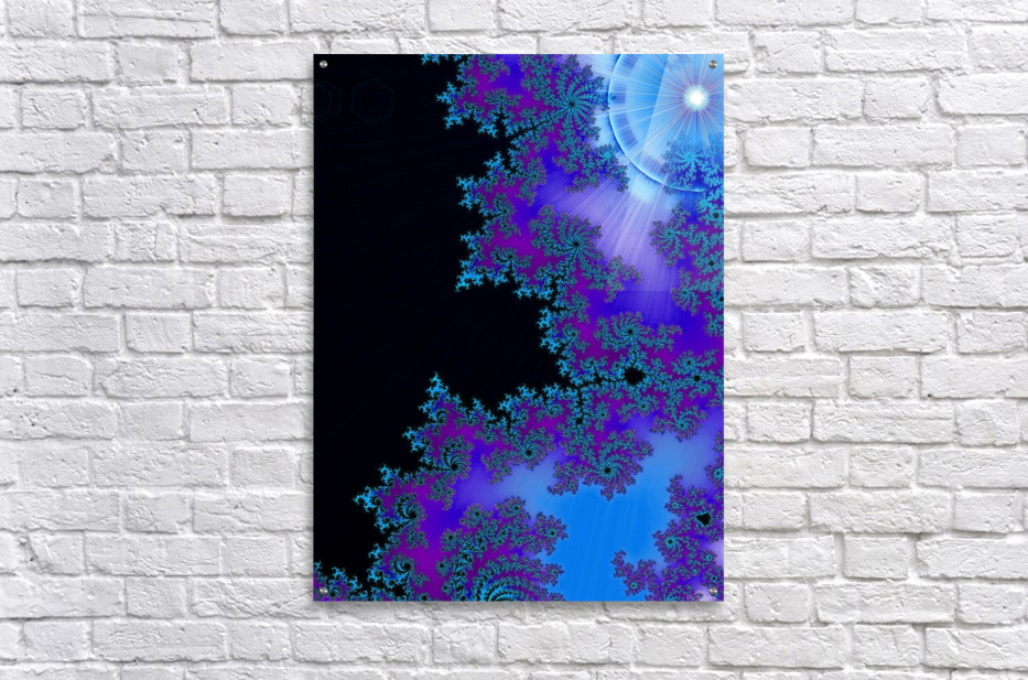Moonlight  In The Forest Flowers 2   Acrylic Print