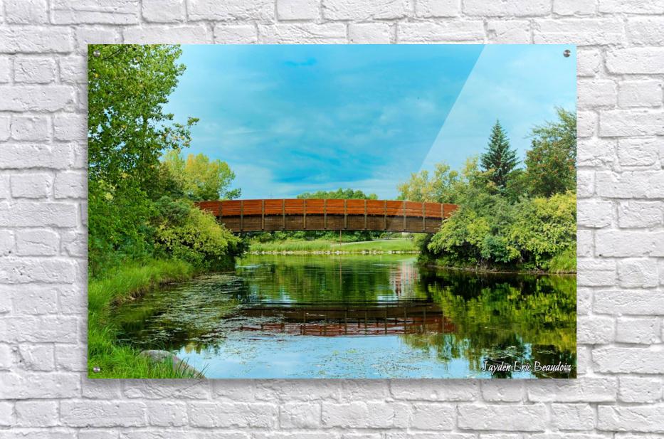 The Lonley Bridge  Acrylic Print