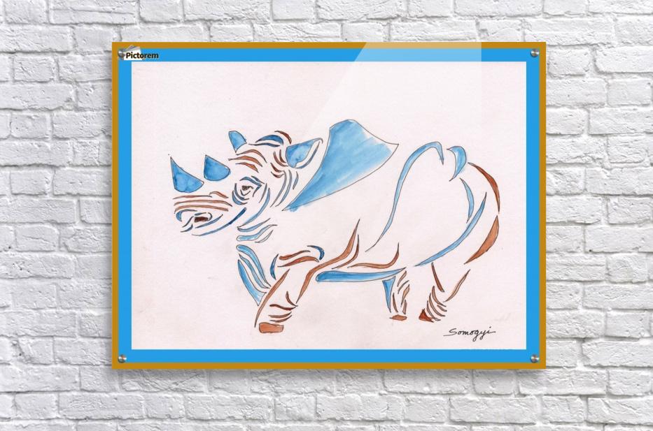 Do Rhinos Come in Blue  Acrylic Print