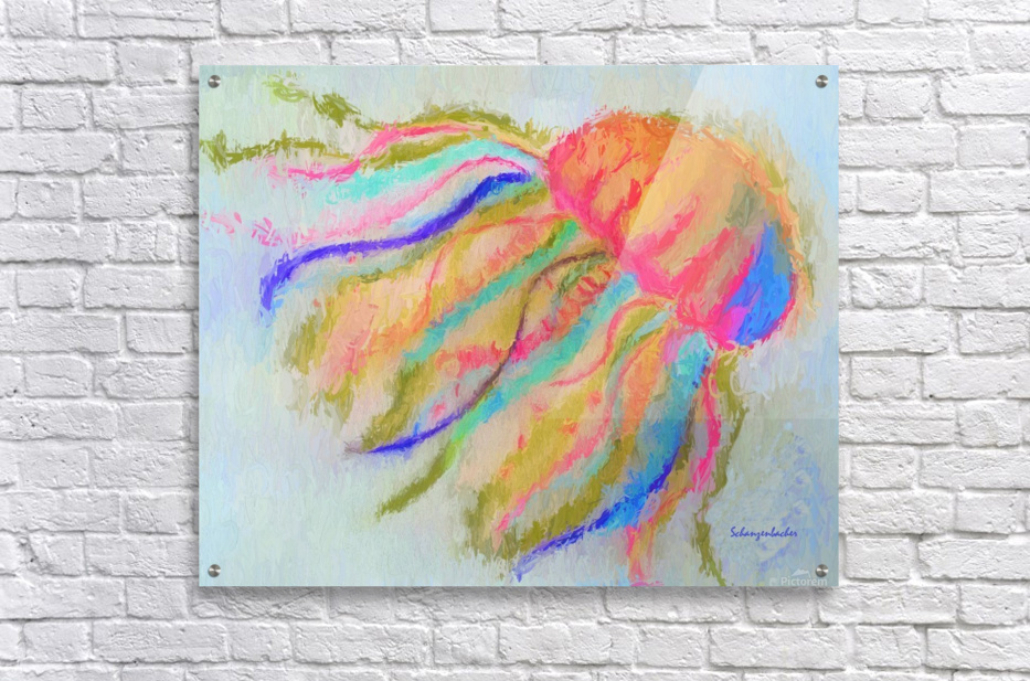 Jellyfish in watercolor  Acrylic Print
