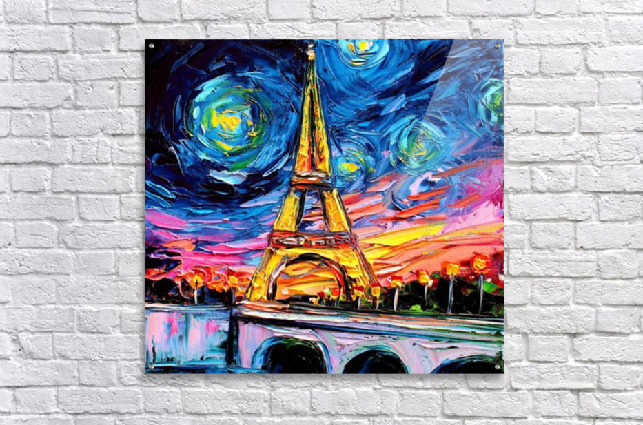 Eiffel Tower Starry Night print van Gogh  Acrylic Print