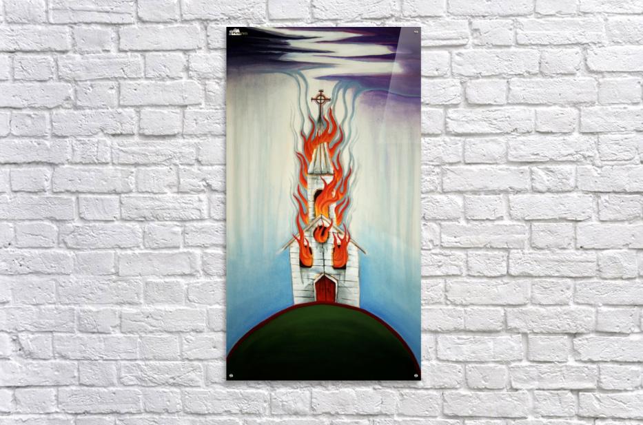 Burning Church  Acrylic Print