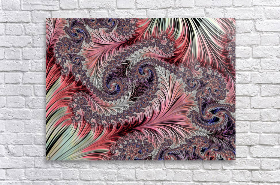 Fractal Art-Silk Brocade  Acrylic Print