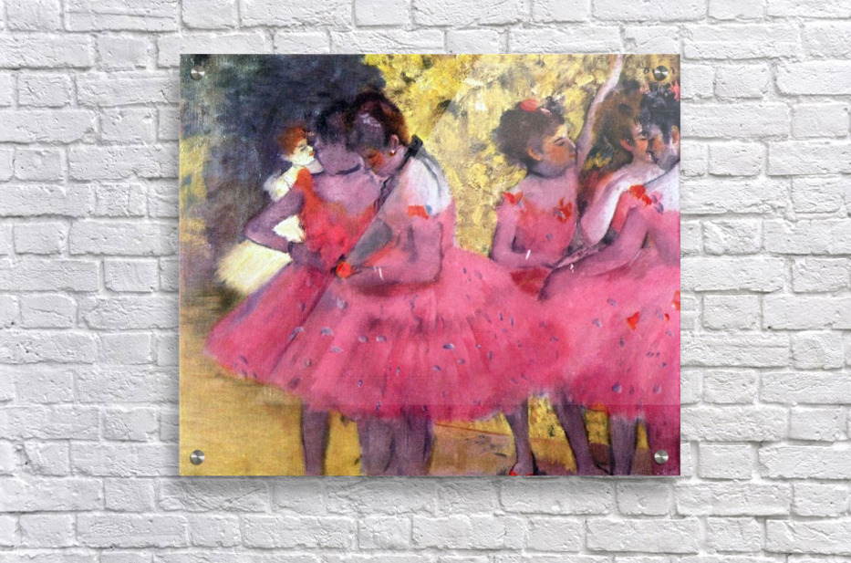 Dancers in pink between the scenes by Degas  Acrylic Print