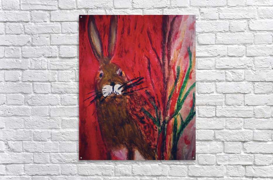 Red Rabbit  Acrylic Print