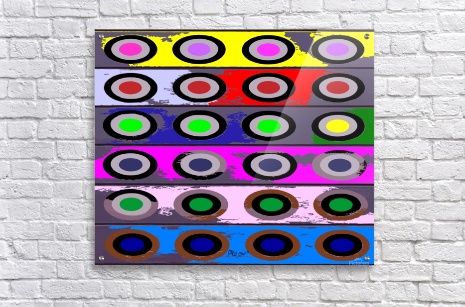 Circle Crazy by dePace  Acrylic Print