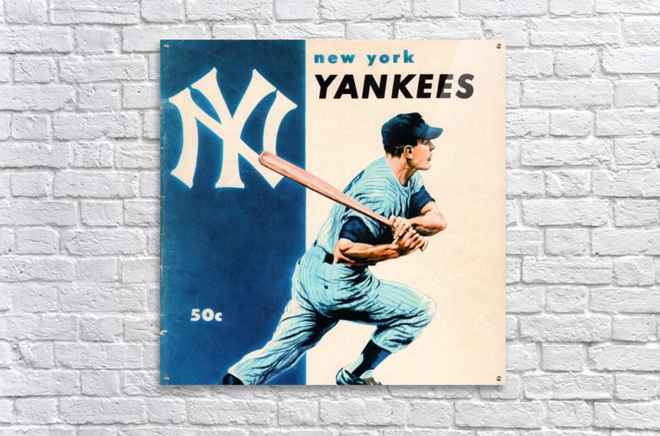 1956 New York Yankees Yearbook Wall Art  Acrylic Print