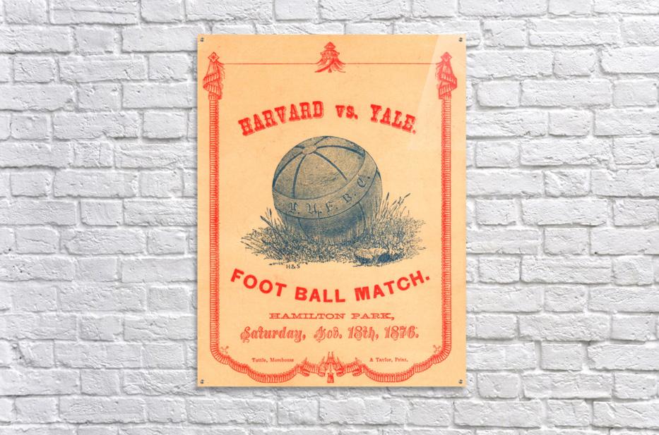 1876 Harvard vs. Yale  Acrylic Print
