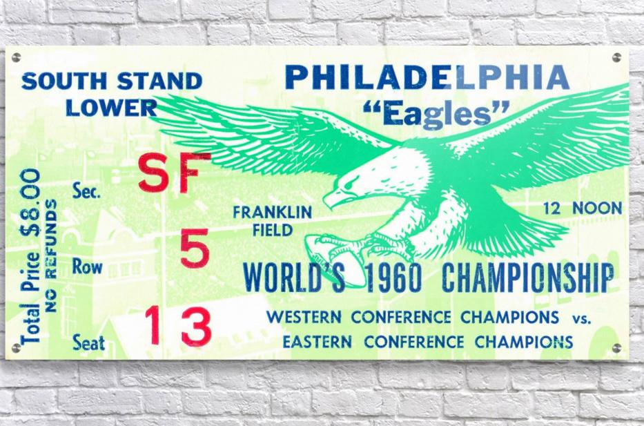 1960 Philadelphia Eagles Football Ticket  Acrylic Print