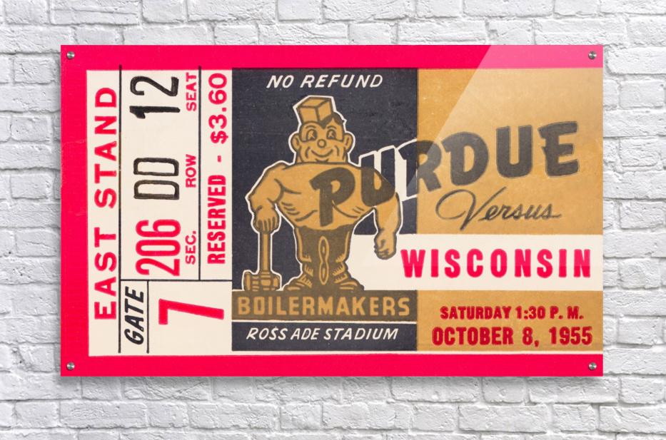 1955 Wisconsin vs. Purdue  Acrylic Print