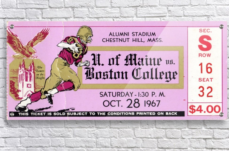 1967 Maine vs. Boston College  Acrylic Print