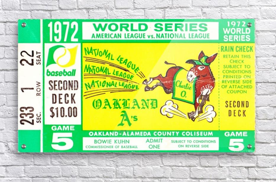 1972_Baseball_World Series_Cincinnati Reds vs. Oakland As_Oakland Alameda Coliseum_Row One  Acrylic Print