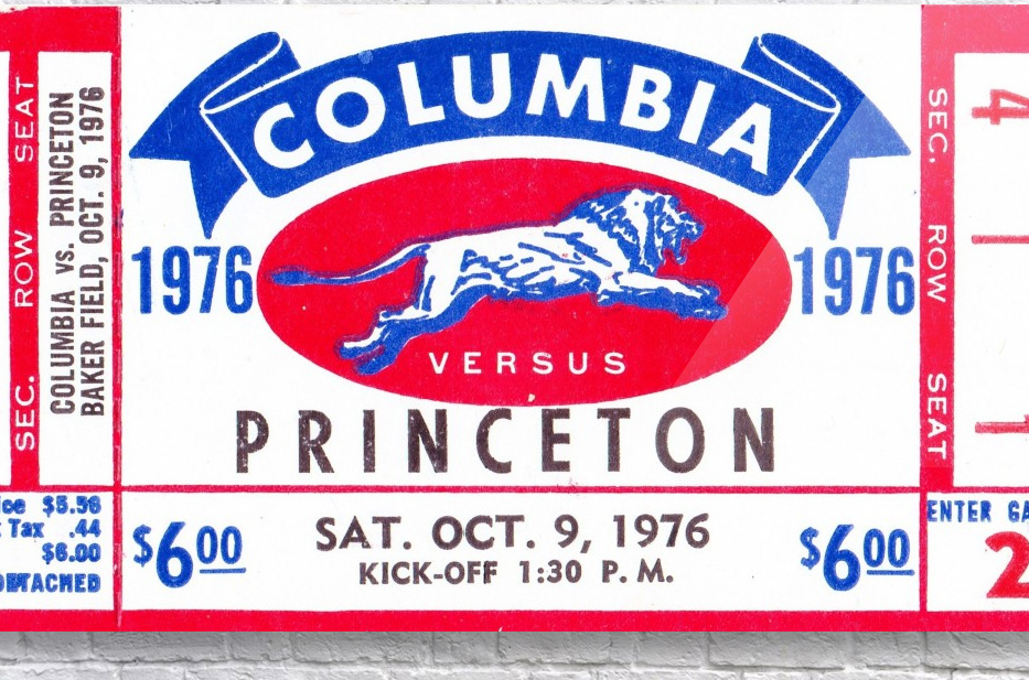 1976_College_Football_Columbia vs. Princeton_Baker Field_New York City_Row One  Acrylic Print