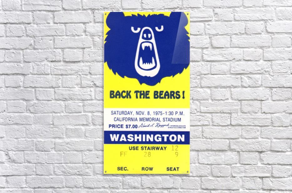 1975_College_Football_California vs. Washington_California Memorial Stadium_Row One  Acrylic Print