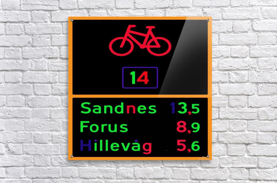 Norwegian bike route sign  Acrylic Print