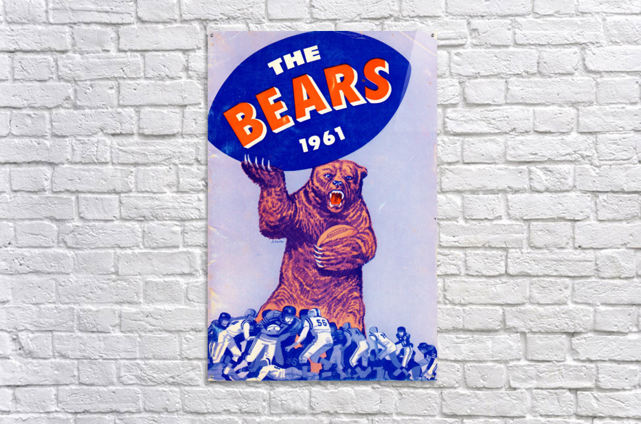 1961_National Football League_Chicago Bears_Row One Brand  Acrylic Print
