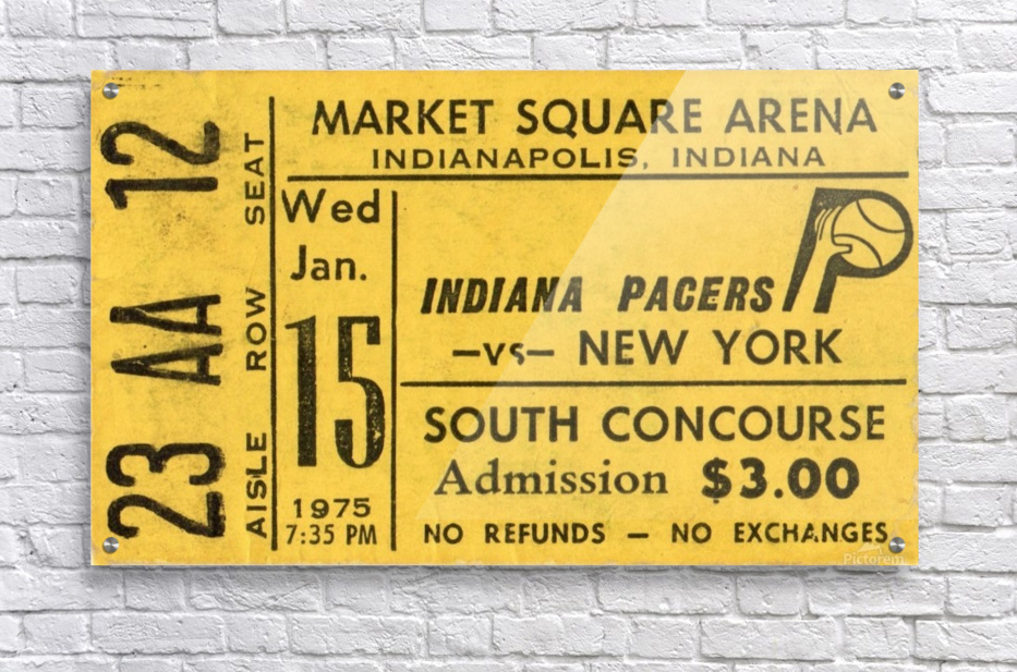 1975_American Basketball Association_New York Nets vs. Indiana Pacers_Market Square Arena_Row One  Acrylic Print
