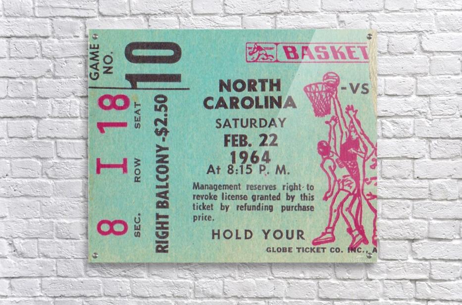 1964 College Basketball North Carolina vs. North Carolina State  Acrylic Print