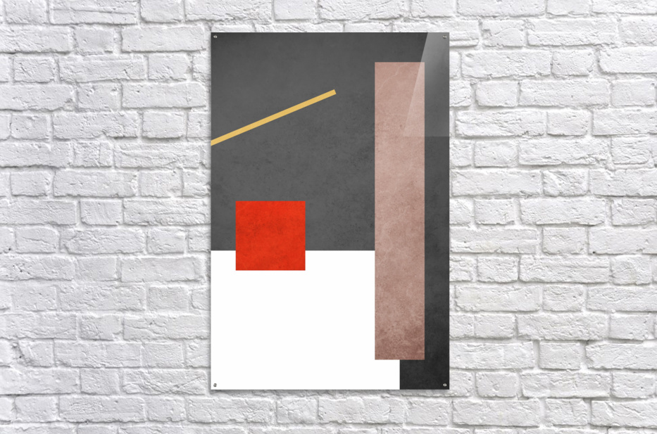 Shapes 03 - Abstract Geometric Art Print  Acrylic Print