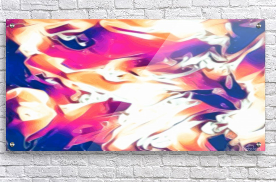 Very Berry - white blue pink orange swirl abstract wall art  Acrylic Print