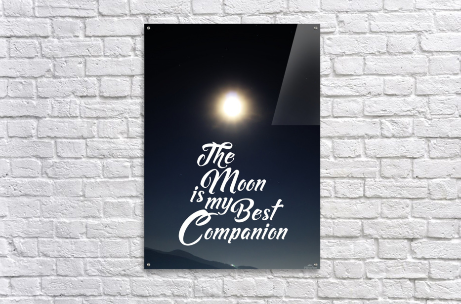 The Moon is Best Companion  Acrylic Print