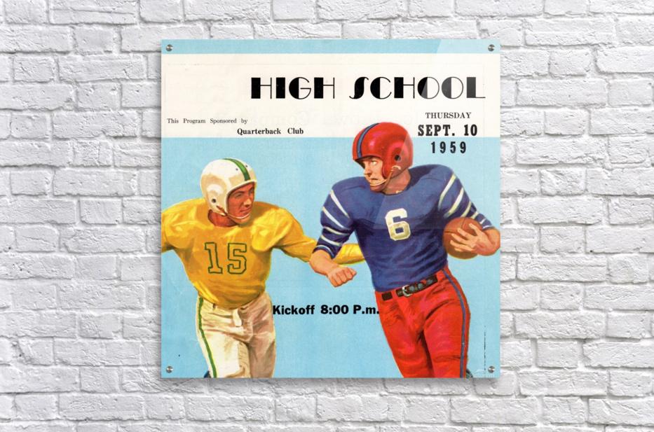 1959 High School Football  Acrylic Print