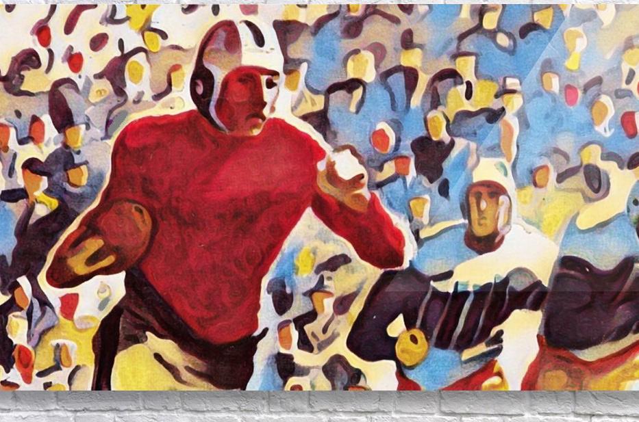 1937 Vintage Football Art Running Back Artwork  Acrylic Print