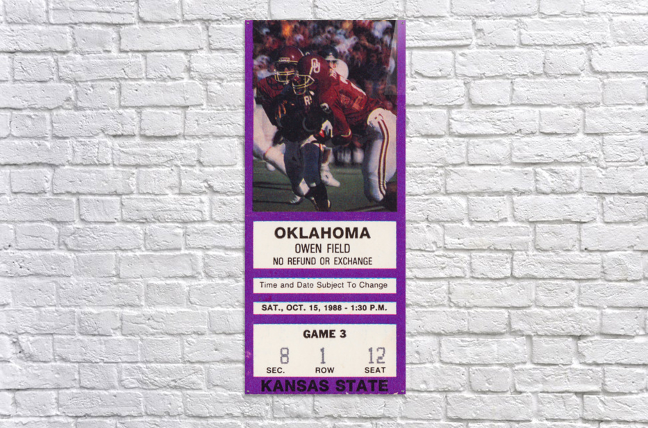 1988 Oklahoma Sooners vs. Kansas State  Acrylic Print