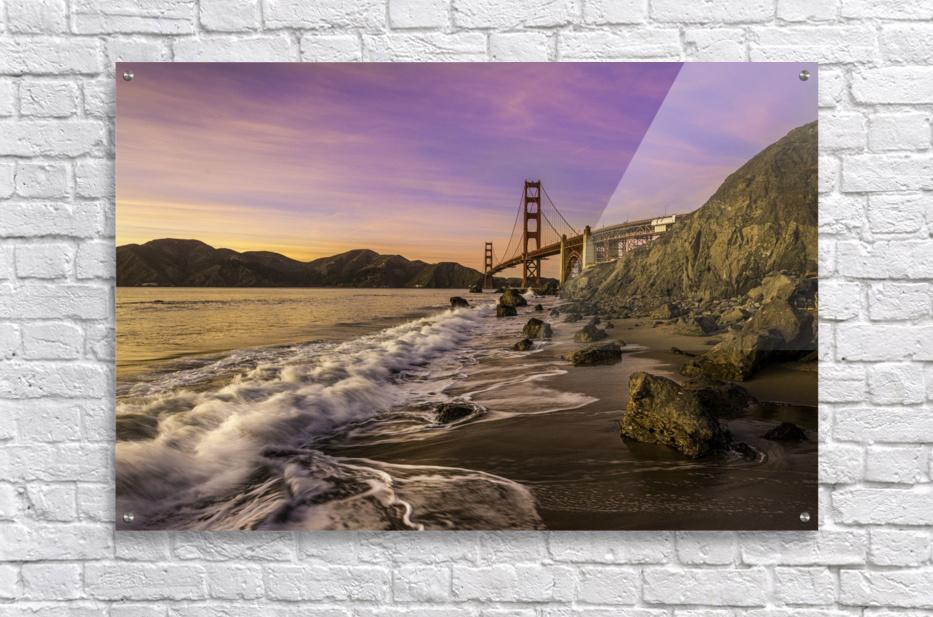 Golden Gate Sunset  Acrylic Print
