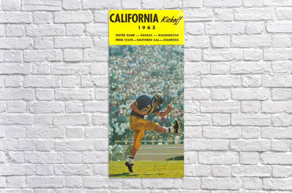 1965 College Football Photo California Bears Kickoff Punter Art  Acrylic Print