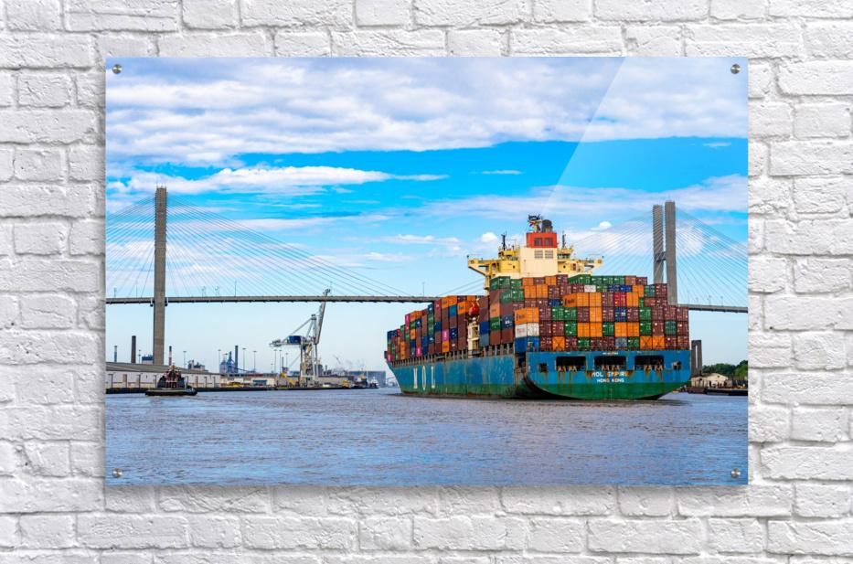 Cargo Ship on the Savannah River 04044  Acrylic Print