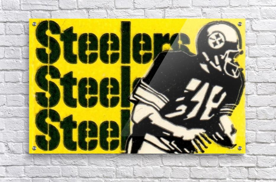 Vintage Pittsburgh Steelers Football Art Reproduction  Acrylic Print