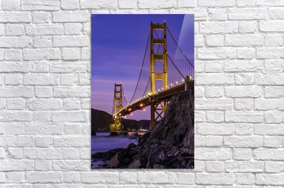 Golden Gate Blue Hour  Acrylic Print