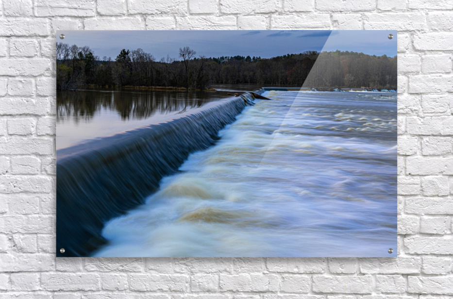 Savannah River Rapids in Columbia County   Augusta GA 6254  Acrylic Print