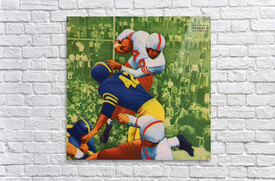Vintage College Football Program Cover Art Print  Acrylic Print