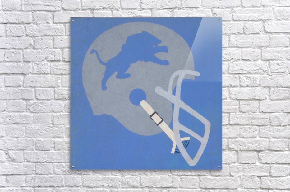 Vintage Detroit Lions Helmet Art (1965) Reproduction Fine Art Print (1)  Acrylic Print