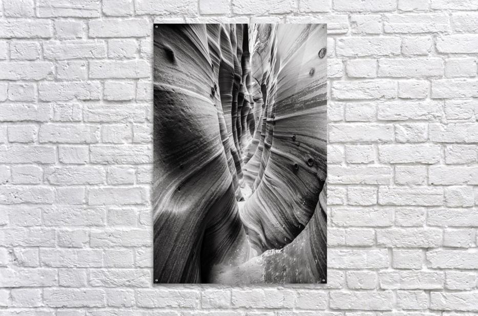 B&W Zebra Slot Canyon I  Acrylic Print