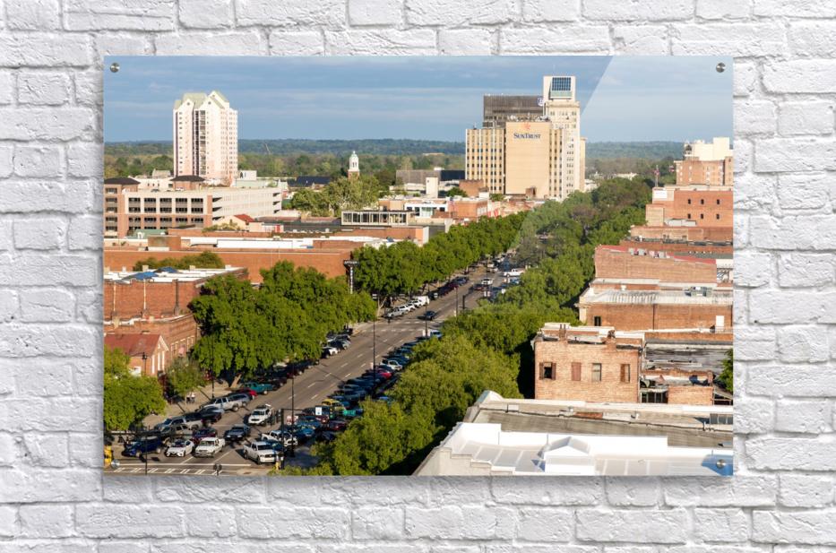 Broad Street Downtown Augusta GA Aerial View 8259  Acrylic Print