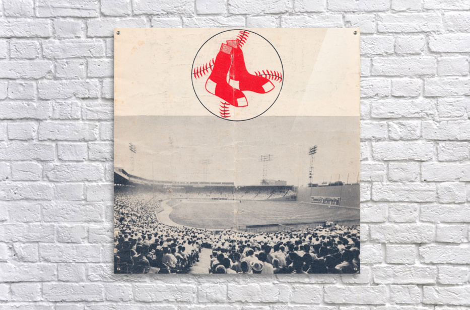 Vintage Fenway Park Poster_Boston Red Sox Photo Reproduction  Acrylic Print