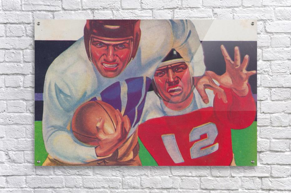Vintage Football Fine Art Prints_ Old Football Art Poster  Acrylic Print