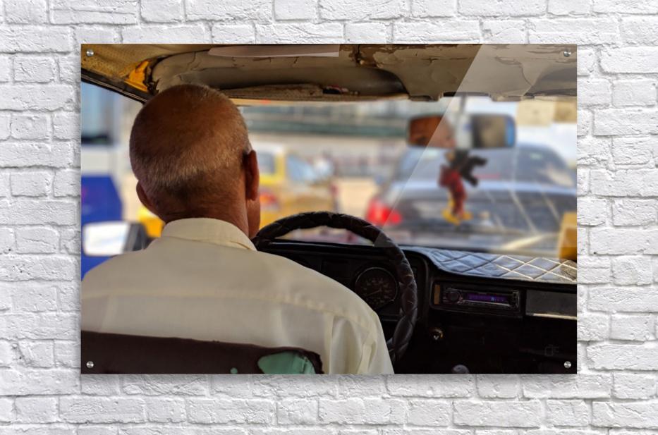Taxi driver in Cuba  Acrylic Print